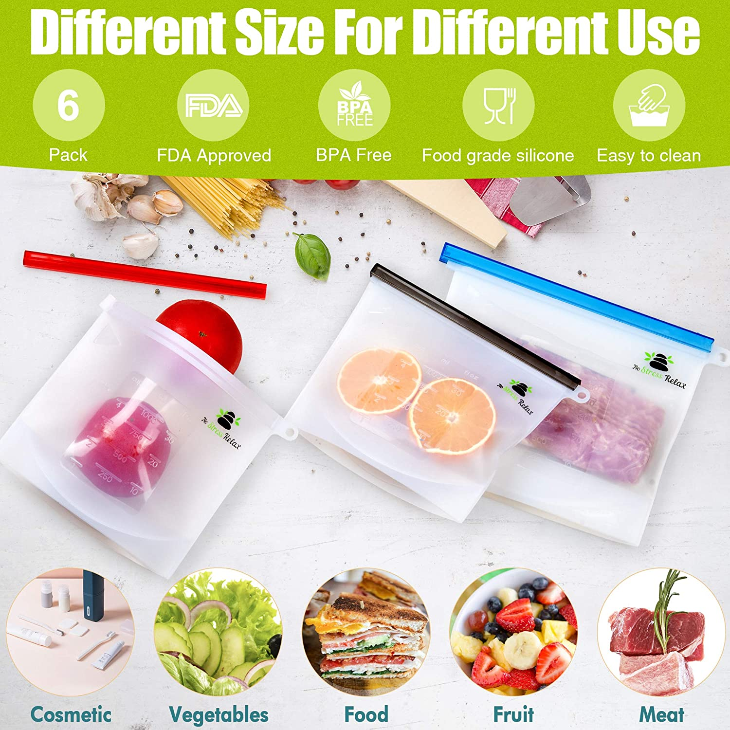 Convenient sizes to store and use for variety of things